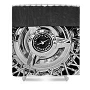 Ford Thunderbird Wheel Emblem Shower Curtain