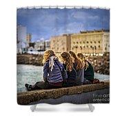 Foreign Students Cadiz Spain Shower Curtain