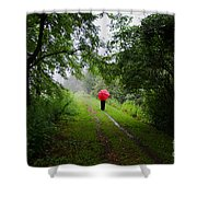 Forest Road Shower Curtain