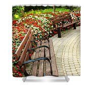 Formal Garden Shower Curtain by Elena Elisseeva