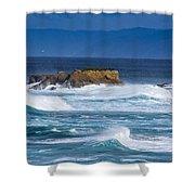 Fort Bragg Coastline Shower Curtain