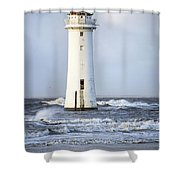 Fort Perch Lighthouse Shower Curtain