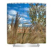 Founders Hall Through The Grasses Shower Curtain