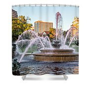 Fountain In The Pink Shower Curtain