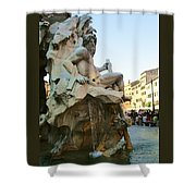Fountain Of The Four Rivers Shower Curtain