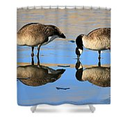 Four's A Crowd Shower Curtain