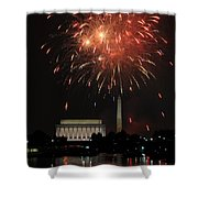Fourth Of July Fireworks At Washington Dc Shower Curtain