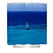 Fowery Rocks Lighthouse Shower Curtain