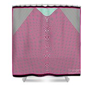 Fractal 28 Pink Gingham Shirt Shower Curtain