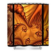 Fractal Triptychon Shower Curtain