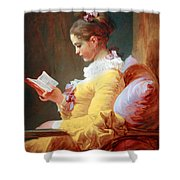 Fragonard's Young Girl Reading Shower Curtain