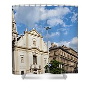 Franciscan Church Of Pest In Budapest Shower Curtain