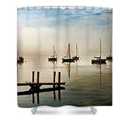 Frankfort Morning Mist Shower Curtain