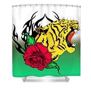 Freak Tiger  Shower Curtain