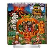 Freaky Tiki Tombs Shower Curtain