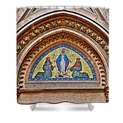 Fresco In Front Of Saint Anthony's Church In Istanbul-turkey  Shower Curtain