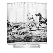 Frontiersman, 1858 Shower Curtain