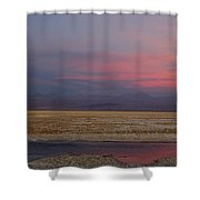 Full Moon Over Laguna De Chaxa Shower Curtain