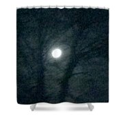 Fullmoon In Between The Trees  Shower Curtain