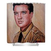 G I Elvis  Shower Curtain