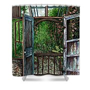 Garden Backyard Shower Curtain