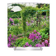 Garden Of Claude Monets House, Giverny Shower Curtain