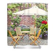 Garden Seating Area Shower Curtain