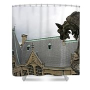 Gargoyles On Roof Of Biltmore Estate Shower Curtain