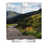 Gates. Rest And Be Thankful. Scotland Shower Curtain