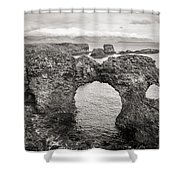 Gatklettur Arch In Hellnar Shower Curtain