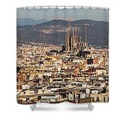 Gaudi La Sagrada Familia Barcelona  Shower Curtain