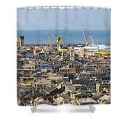Genova. The Old Town  Shower Curtain