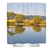 George Town Lake Reflections Shower Curtain