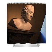 George Washington Dark Blue -- Horatio Greenough Shower Curtain