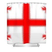 Georgian Flag Shower Curtain
