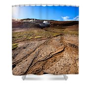 Geothermal Field Shower Curtain