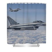 German Eurofighter Typhoon Jets Shower Curtain