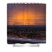 German Sunrise Shower Curtain