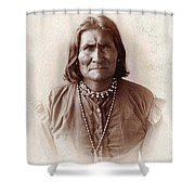Geronimo Native American Chief Shower Curtain