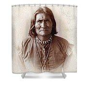 Geronimo Native American Chief Shower Curtain