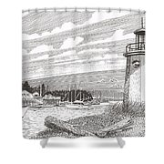 Lighthouse Gig Harbor Entrance Shower Curtain