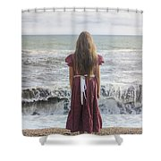 Girl On Beach Shower Curtain