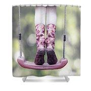 Girl Swinging Shower Curtain