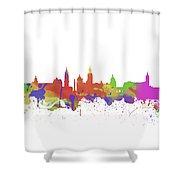 Glasgow Watercolor  Skyline  Shower Curtain