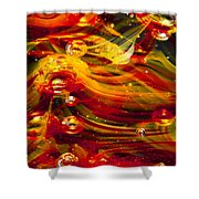 Glass Macro Abstract - Molten Fire Shower Curtain