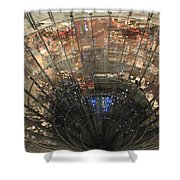 Glass Spiral Shower Curtain
