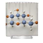 Glucose Molecule Shower Curtain