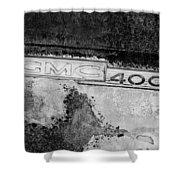Gmc 4000 V6 Pickup Truck Side Emblem Shower Curtain