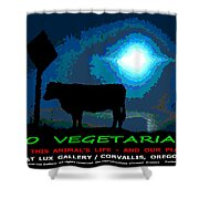 Go Vegetarian Shower Curtain