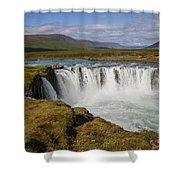 Godafoss Waterfall Shower Curtain